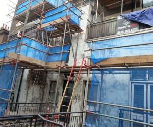 building restoration external rendering in London