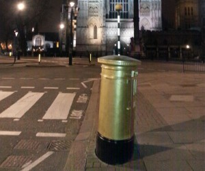 blasting of post box london
