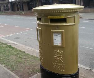 sandblasting of post box london