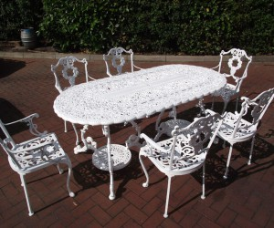 garden furniture blasting in london