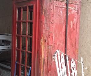 blasting of phone box london