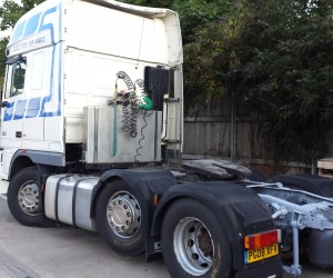 lorry blasting london
