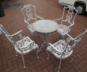 blasting of garden furniture in london