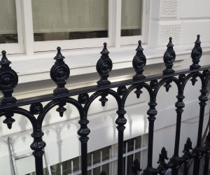 blasting of railings in london